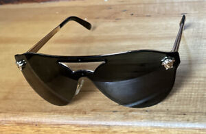 Versace aviator frame black sunglasses Gold Metal/Plastic