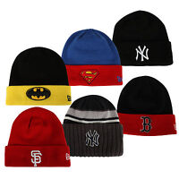 New Era Beanie Hat Winter Hat Ny Superman Batman Giants Yankees MLB Knitted