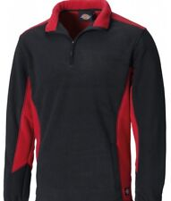 Dickies Two 2 Tone Micro Fleece JW7011 Workwear Grey, Red & Royal/Black S - 3XL