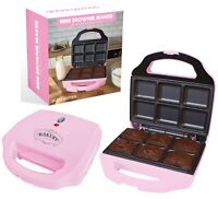 Global Gizmos Chocolate Brownie Maker Pink Non Stick Childrens Baking Kitchen