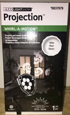 Gemmy LED Light Show Projection Whirl A Motion Skulls Halloween Spooky Scary Fun