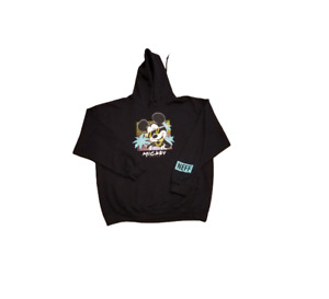 Disney x Neff Mickey Mouse Black Hoodie | Men's Extra Large XL