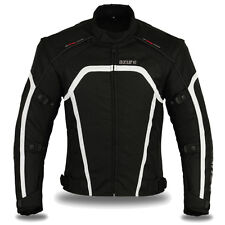 Motorbike Motorcycle Waterproof Racing Cordura Textile Jacket Black Large