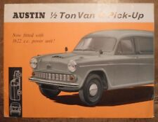 AUSTIN 1/2 TON VAN & PICK UP orig 1963 1964 UK Mkt Sales Brochure