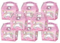 MAGICAL UNICORN Birthday Party Boxes Childrens Fun Picnic Food Meal Box P/W
