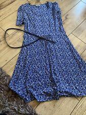 Ladies Heart Print Dress Size 14 By Tu