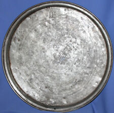 Antique hand made large tinned copper baking dish platter