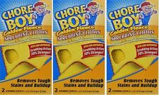 3-2pks CHORE BOY Golden Fleece Scouring Cloths Pads Scrubs Cleaning Kitchen Tool