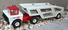 Vintage Mighty Tonka RED & WHITE CAR CARRIER - Original Condition 1960's ?