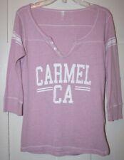 "Women's Pink ""CARMEL CA""  3/4 Sleeved Top - Size Medium"