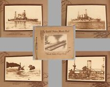 WWI Antique US Atlantic Fleet Dreadnought Battleships Photogravure Scrapbook