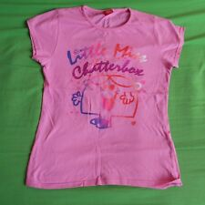 little miss chatterbox pink girls age 13 mr men 10 PICTURE T SHIRT top WOMENS