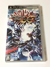 USED PSP Phantasy Star Portable 2 Infinity JAPAN Sony PlayStation Portable game