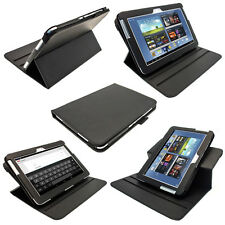 Black PU 360° Leather Case for Samsung Galaxy Note 10.1 N8000 Android WiFi Cover