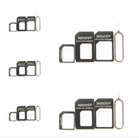 5sets Nano/Micro to Micro/Standard SIM Card Adapter Tray Set For iPhone 5 4S 4