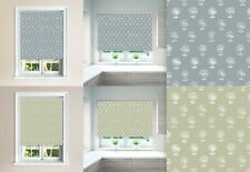 Agapanthus Twilight & Limpet Blackout Roller Windows Blinds Cut To Size Safety