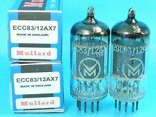 MULLARD 12AX7 ECC83 VACUUM TUBE 1958 MATCHED PAIR WARM SWEET ENGLISH BEER PUB 8I