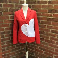 Stunning Love Moschino Red & White Heart Jacket - BNWT (£490)
