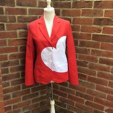 Impresionante Love Moschino Chaqueta de Corazón Rojo y Blanco-Bnwt (£ 490)