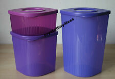 Tupperware Fresh N Cool Refrigerator Storage Container  Set 3  New