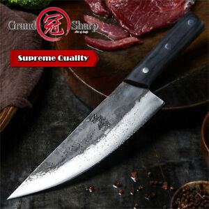 8.5'' Handmade Chef Knife Clad Forged Steel Slicing Butcher Kitchen Knives Hot