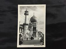 1950's Mosque at North Bridge Road  Singapore real photo postcard unused