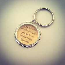 Outlander Keyring-Jewellery-Bag Charm-Last Words-Christmas Stocking Filler