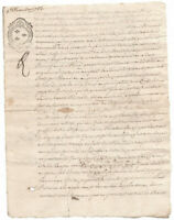 1753  KING LOUIS XV Royal  Notary signed manuscript document ORIGINAL stamp
