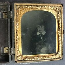 Antique ambrotype photo in union case,c1860's