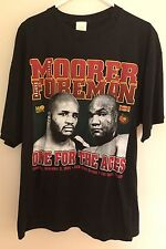 Boxing GEORGE FOREMAN vs. MICHAEL MOORER Official Vintage T Shirt XL 1994