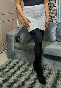 Ultra Doux Mini Jupe Femmes Ardoise Taille Haute Crinckled Court Tirer Sur