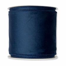 Christmas Velvet Fabric Ribbon 100mm X 8m Blue