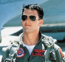 Top Gun Inspired Classic Retro 80s Air Force Gold & Black Mens Womens Sunglasses