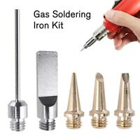5Pcs Soldering Iron Pen Tip Kit Butane Gas Welding Cutting Heads Torch Set