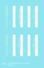 K4 HO Decals Louisville Packing Company Wood Ice Reefer White