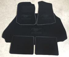 Autoteppich Fußmatten Kofferraum Set für Ford Mustang Cabrio schwarz 94-04 5tlg