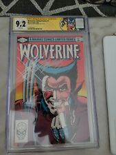 WOLVERINE LIMITED SERIES #1 CGC 9.2 WHITE PAGES 1982 SS BY CHRIS CLAREMONT🔥🔥🔥