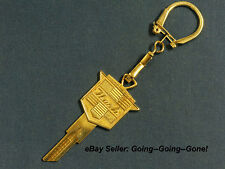 VINTAGE NASH GOLD CREST 24KT GOLD KEY BLANK & KEY CHAIN 1925-1957 H1098M B2 WOW!