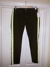 Hudson Jeans Womens Denim LOULOU Skinny Leg Tuxedo Crop Chopin Green 30 NEW $165