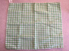VINTAGE 1982 FISHER PRICE FUN WITH FOOD GREEN & WHITE CHECKERED SMALL TABLECLOTH