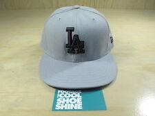 MLB LOS ANGELES DODGERS NEW ERA 5950 FITTED HAT GRAY BLACK LA 7 1/2 CAP