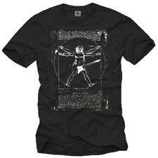 Vintage Rock Band Herren T-Shirt mit DA VINCI GITARRE - Männer Punk Musik Shirt