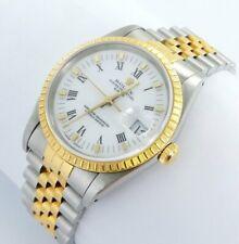 Rolex Date Herren Damen Uhr - Ref.15233 Stahl/Gold Papiere