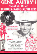 GENE AUTRY COLLECTION OF JUKE BOX RADIO & MOVIE HITS Song Book 1945 - 20 Songs!