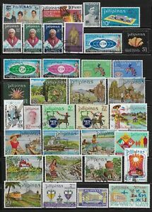 Philippines Stamps Collection of 35 Different Used Issues
