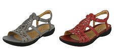 Ladies Clarks Sandals- Un Vlaencia- Leather Strappy- Great Price!