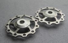 2 Pulley Jockey Wheels 11T Anodised Sealed Bearing Shimano XTR XT Sram X0 X9 X7
