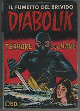 DIABOLIK prima serie N.7 ingoglia TERRORE SUL MARE originale 1963 1a I