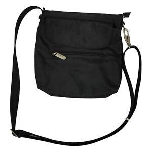 Travelon Womens Black Anti-Theft Classic Zipper Front Mini Shoulder Bag