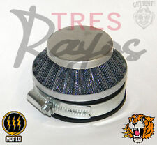 60mm AIR FILTER for Dellorto SHA, SHBC, Mikuni TMX carburetors TRES RAYOS MOPED